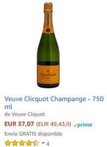 Champán La viuda de Clicquot