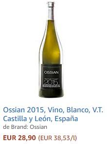Vino blanco Ossian