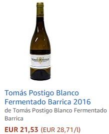 Vino blanco Tomas Postigo
