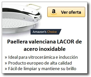 AMAZON_Paellera acero inoxidable LACOR