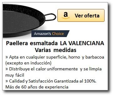 AMAZON_Paelleras esmaltadas marca LA VALENCIANA